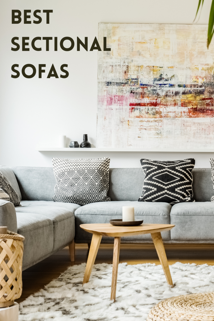 Gray Sectional Sofa in living room