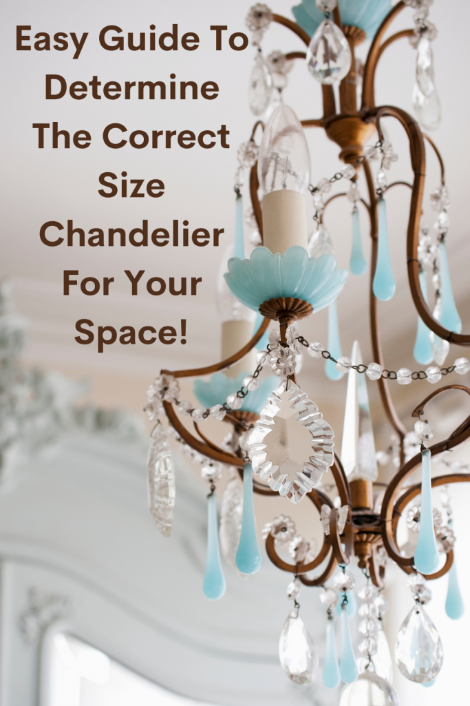 Correct Size Chandelier Guide - With a white and blue farmhouse chandelier