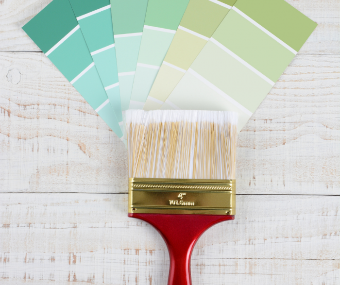 White Paint Choices - Paint Cards Fanned Out