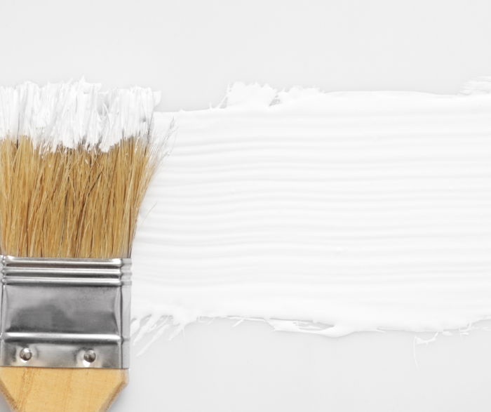 White Paint on Paint Brush