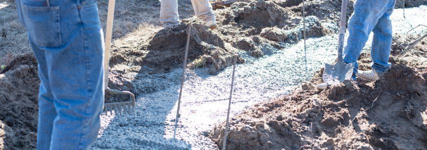 Concrete Footings – Farmhouse New Build