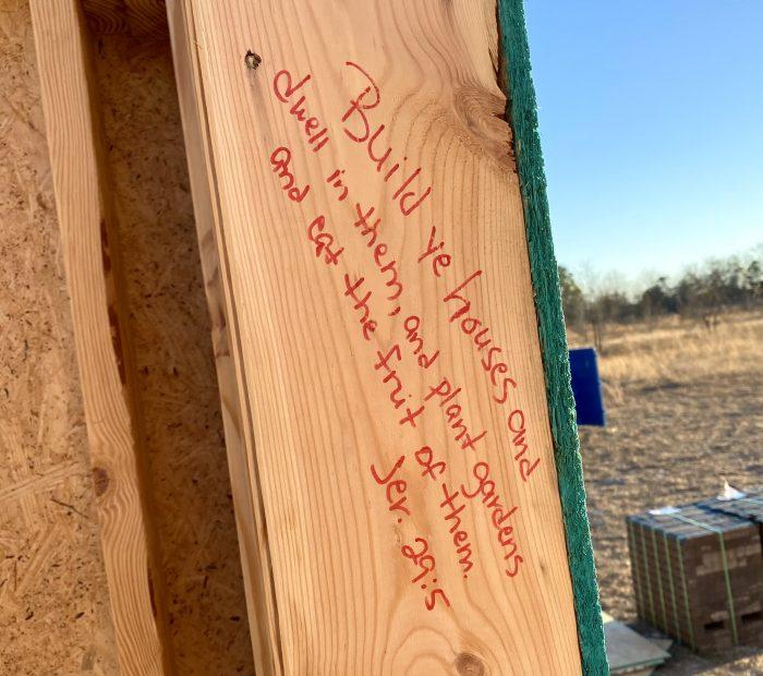 Favorite Bible Verses Written on Doorposts of New House
