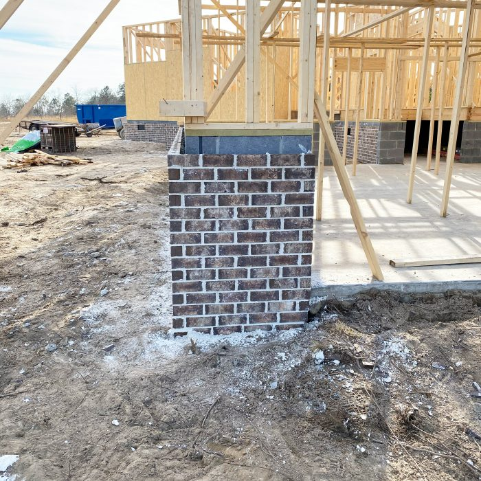 Brick Foundation Wall Going Up On New Farmhouse build