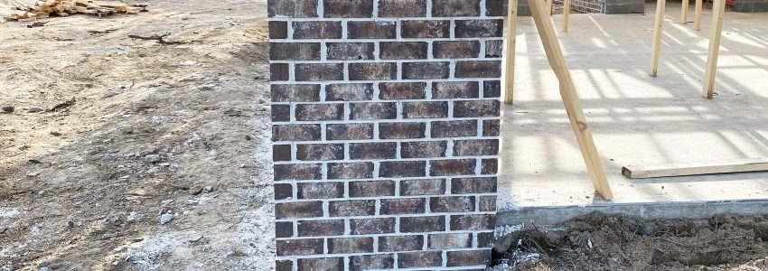 Brick Foundation Wall – Farmhouse Update