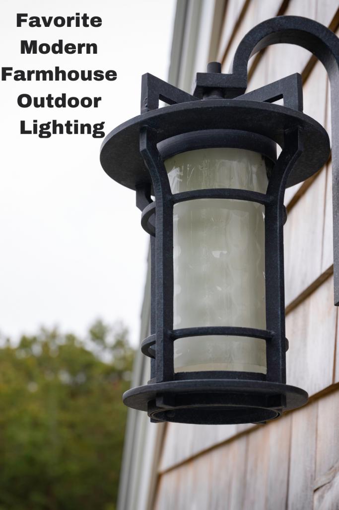 Outside lantern light on a porch