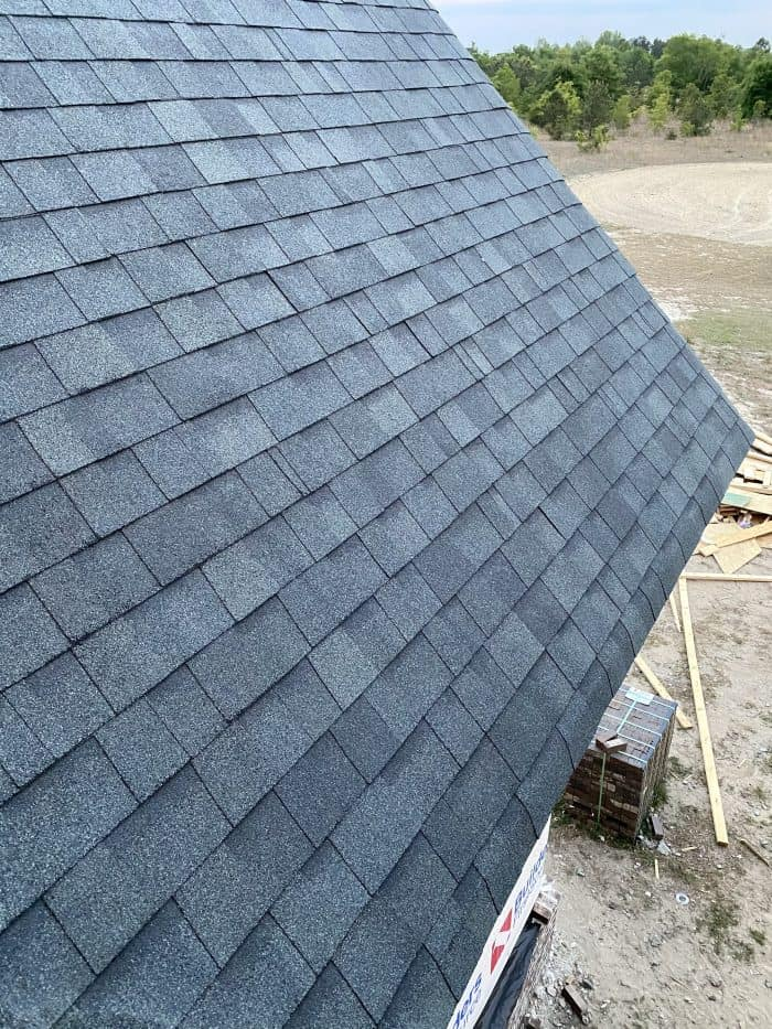 gray shingles on a roof